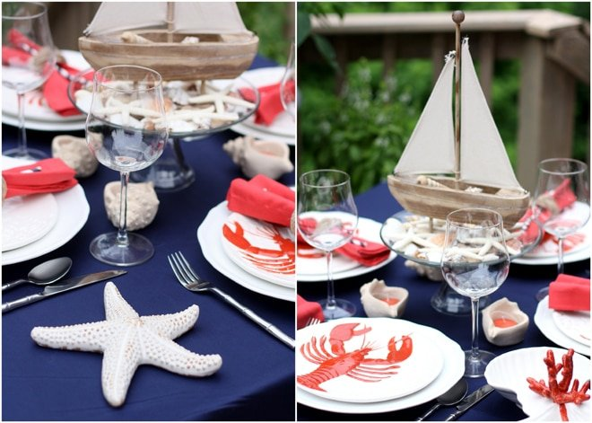 Nautical Cape Cod Party Style