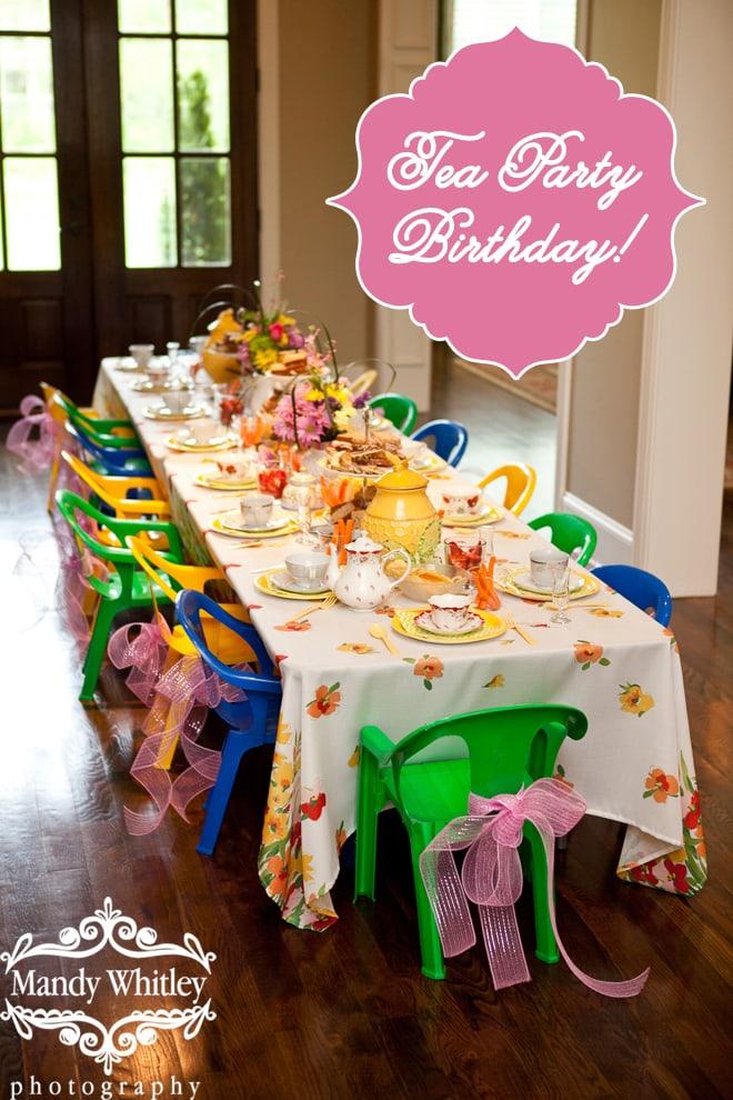Adorable Little Girl's Tea Party!