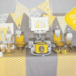Sweet Yellow & Grey Giraffe Birthday Party