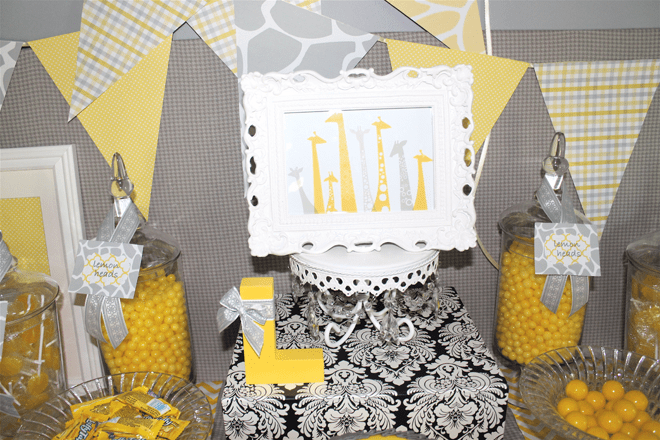Adorable Yellow and Gray Giraffe Party Photos + Inspiration!