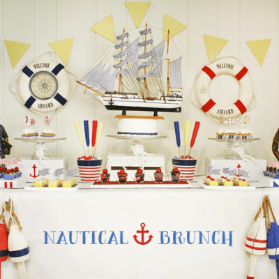 Adorable Nautical Brunch Photos + Inspiration!