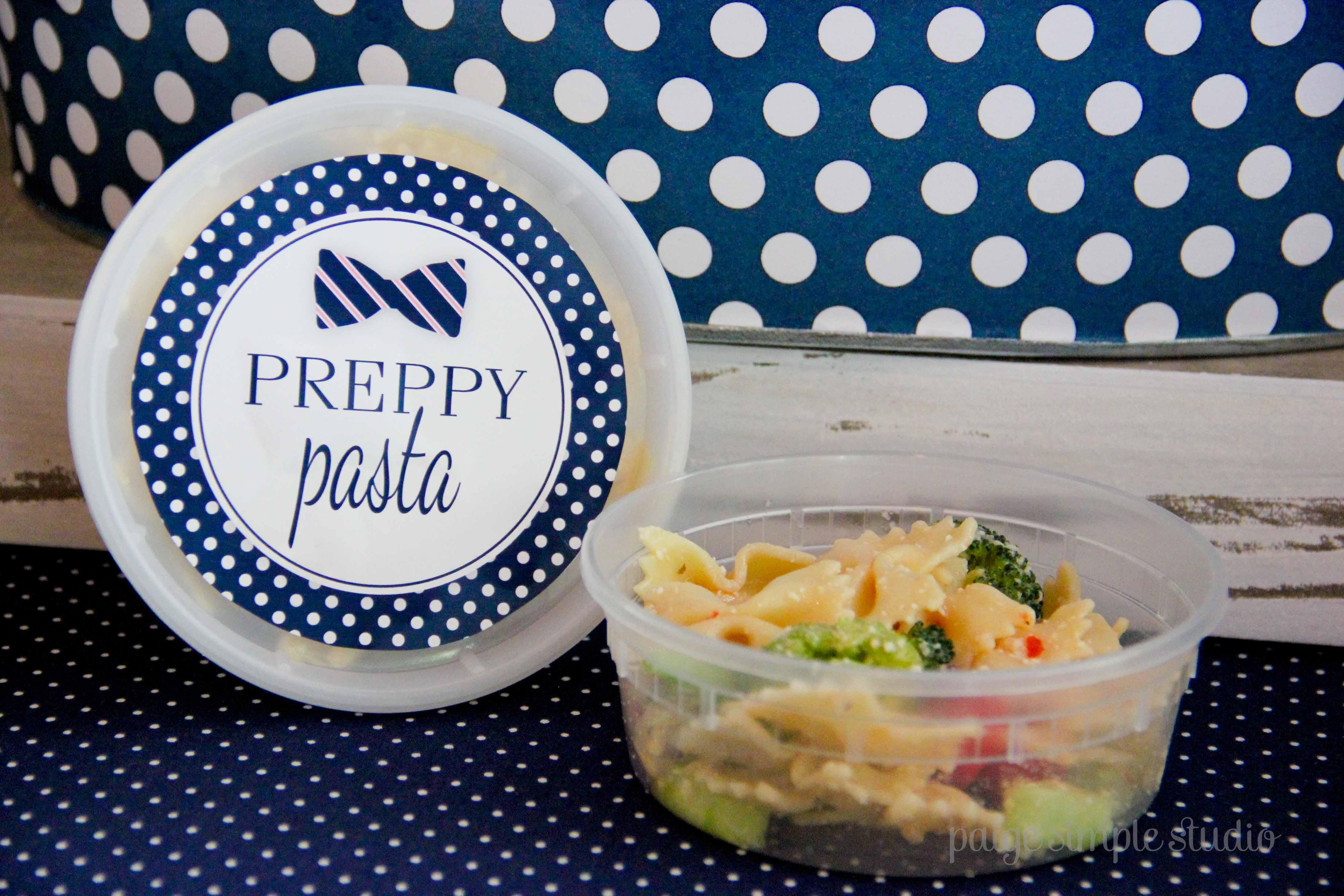 Adorable Preppy Pasta!