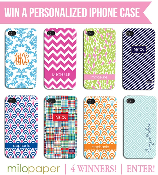 Win a Personalized iPhone Case from Milo Paper on Pizzazzerie.com