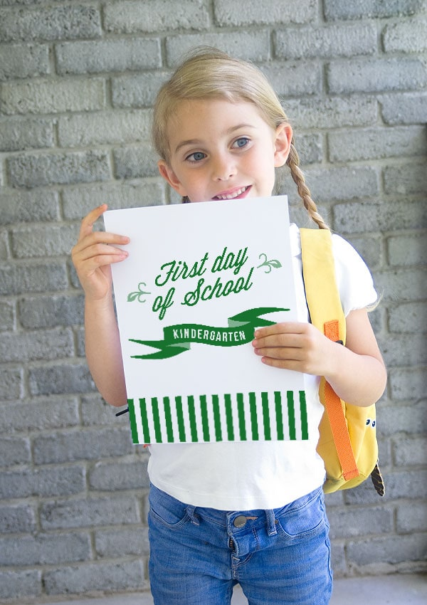 Free Back-To-School Sign!
