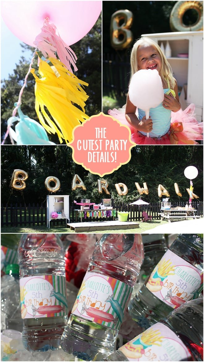 By the Boardwalk Birthday Party Feature on Pizzazzerie.com #Pizzazzerie