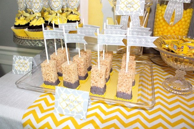 CUTEST Yellow & Grey Modern Giraffe Birthday Party Details and Inspiration!