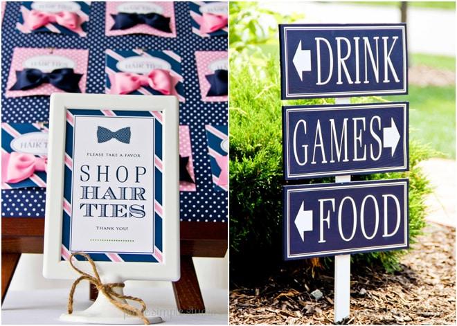 """Navy & Pink """"Preppy Tie Shop"""" Birthday Party!"""