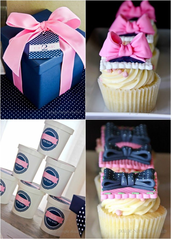 Adorable Pink & Navy Preppy Tie Party!