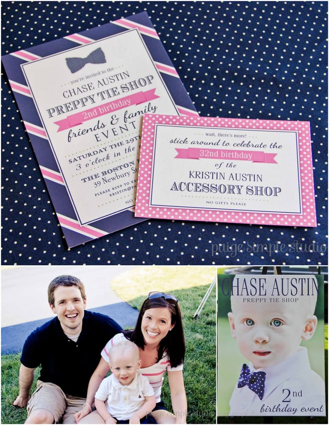Adorable Pink and Navy Preppy Tie Party!