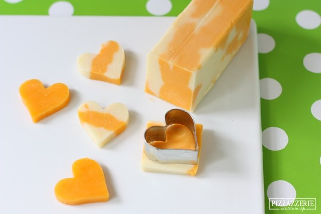 Make cute kid's snacks with cookie cutters and cheese!