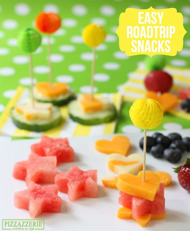 Road Trip Snacks: Cheese & Fruit Skewers!