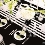 My Wedding: Black & White Striped Tablescapes