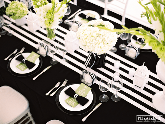 my black and white striped wedding pizzazzerie. Black Bedroom Furniture Sets. Home Design Ideas