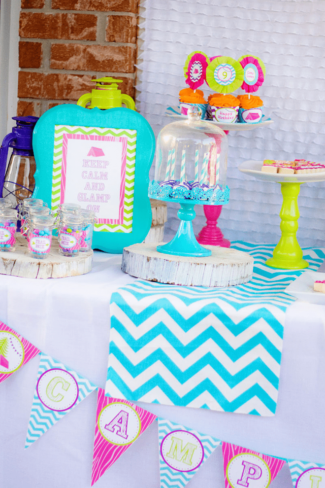 Party Feature Fabulous Quot Glamping Quot Camp Themed Birthday