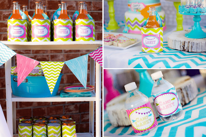 "Fabulous ""Glamping"" Camp Themed Party Photos + Inspiration!"