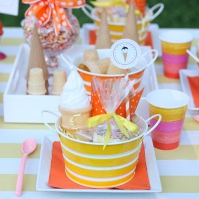 ice cream treat table