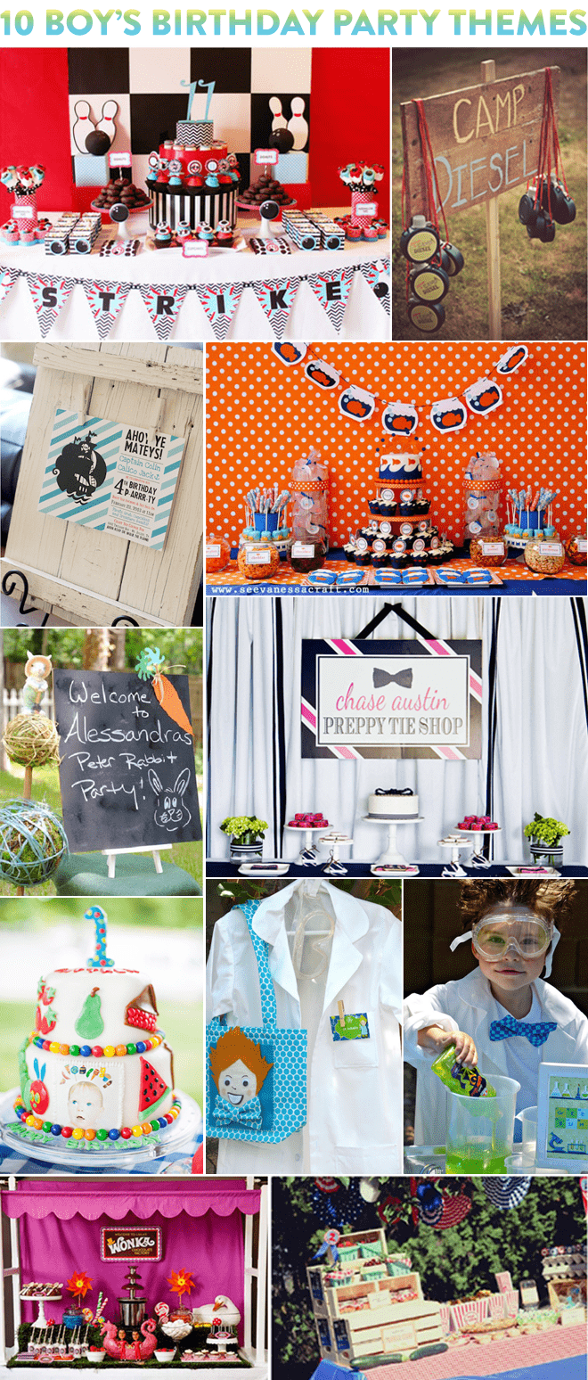 Top 10 Boy's Birthday Party Themes!