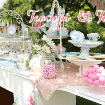 Adorable Teacups + Tutus Party Inspiration + Photos!