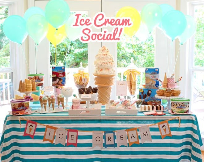Host A Blue Bunny Ice Cream Social Party