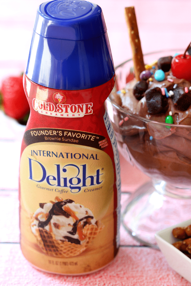 Must-try this new International Delight Flavor! Brownie Sundae!