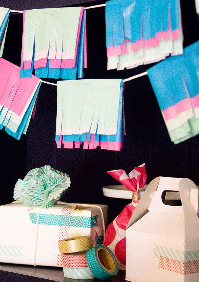 DIY Multicolored Tissue Garland!
