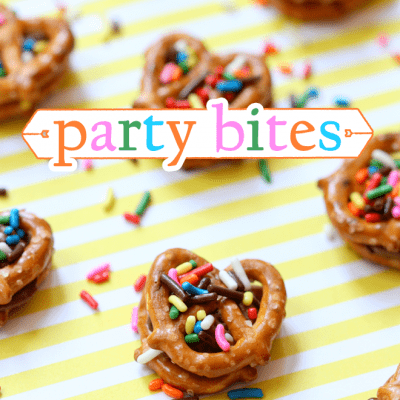 EASY PARTY BITES: Chocolate Peanut Butter Pretzel Bites!