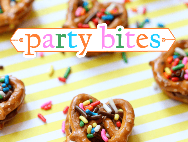 Chocolate Peanut Butter Pretzel Party Bites!