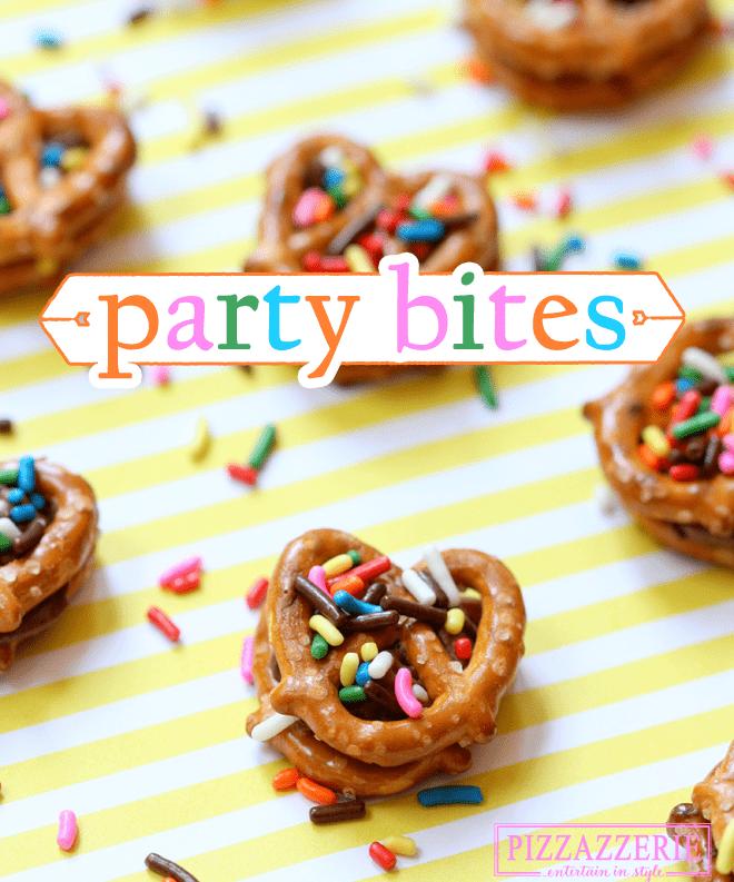 Chocolate Peanut Butter Pretzel Party Bites!