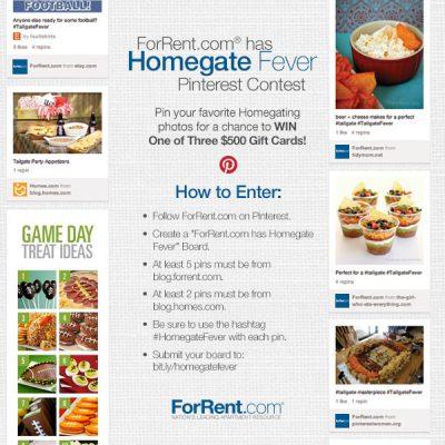Homegate Fever Pinterest Contest!