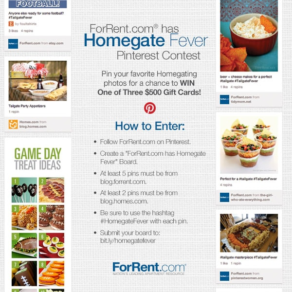 Homegate Fever Pinterest Contest!