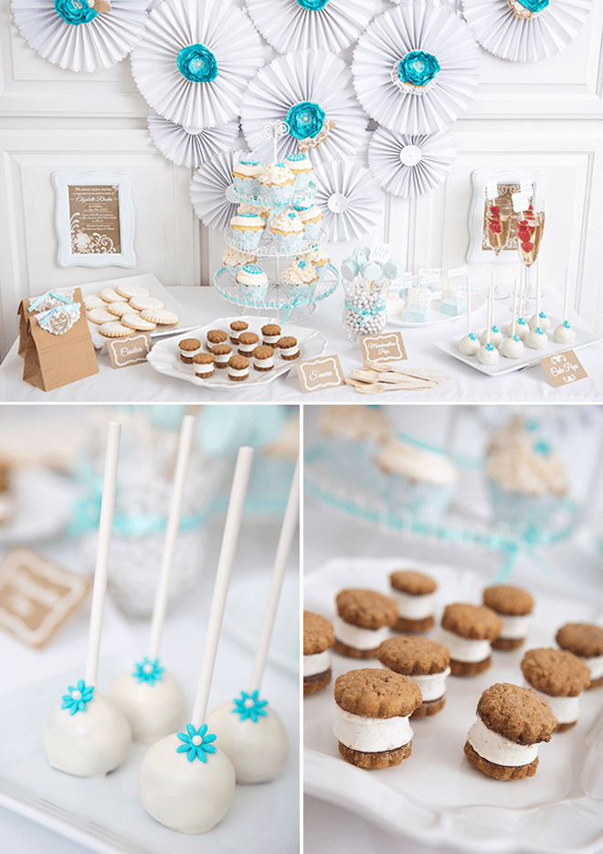 A beautiful 'Lace & Pearls' themed bridal shower photos & inspiration!
