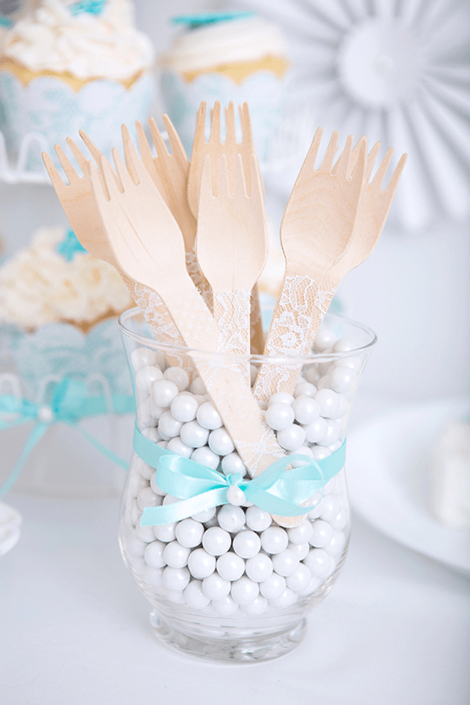 Party Feature Lace Amp Pearls Bridal Shower Pizzazzerie