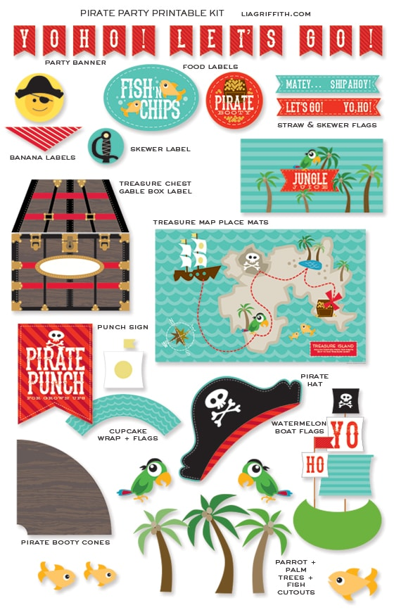 Pirate Party Printables