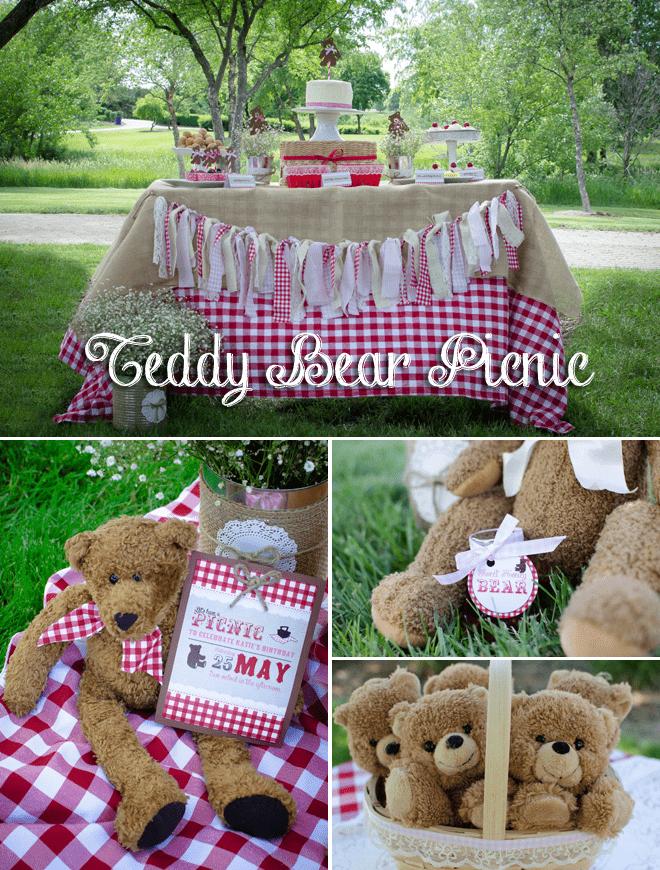 Adorable Teddy Bear Picnic Party Pizzazzerie