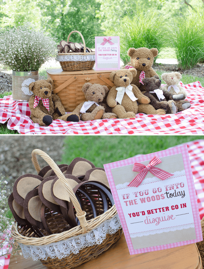 Cute teddy bear picnic birthday photos inspiration