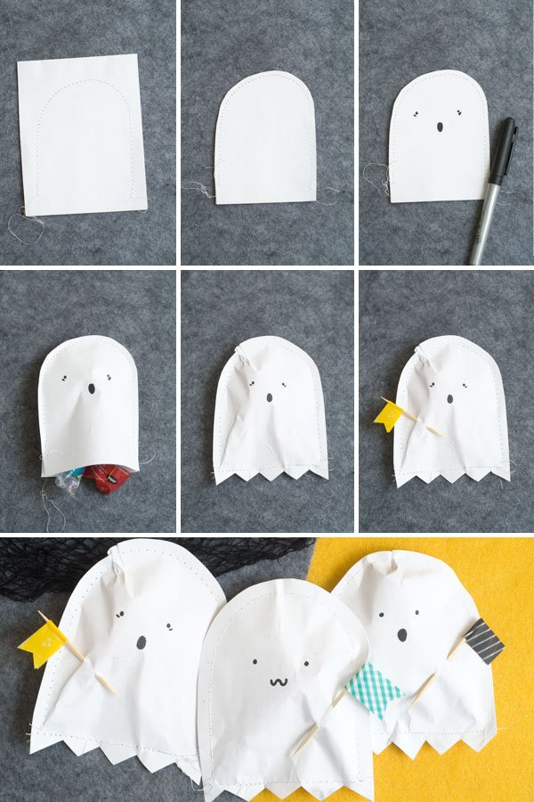 DIY Paper Ghost Pouch!