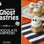 Mini Ghost Pastries with a Chocolate Surprise!