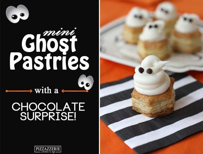 Mini Ghost Pastries with a Sweet Surprise!