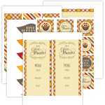 Free set of Thanksgiving Printables for Download