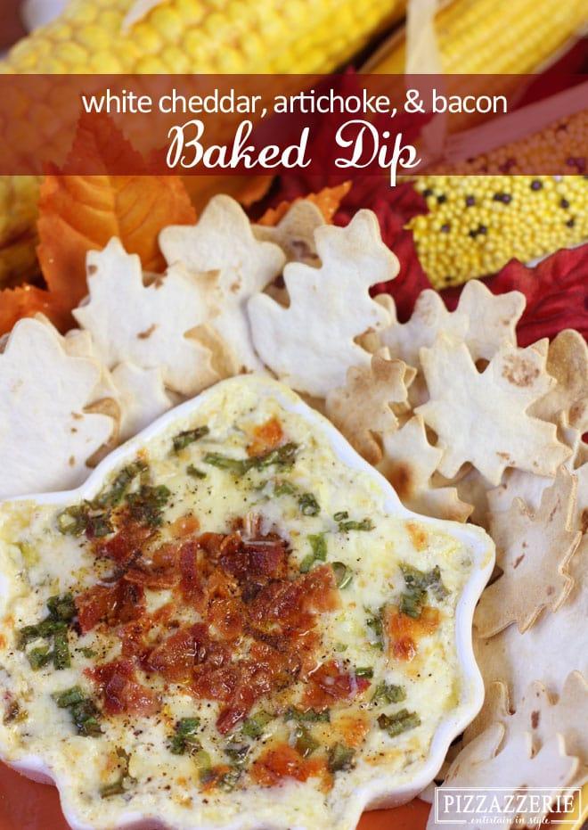 ADDICTIVE RECIPE: Baked White Cheddar, Bacon, Artichoke Dip!