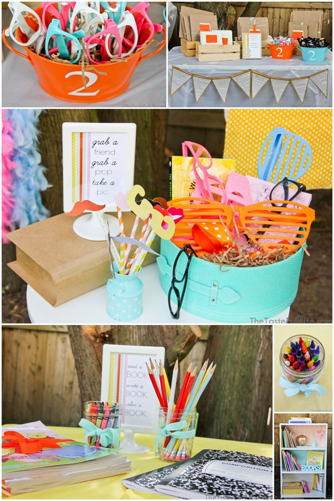 adorable  u0026quot chapter 2 u0026quot  book themed birthday party