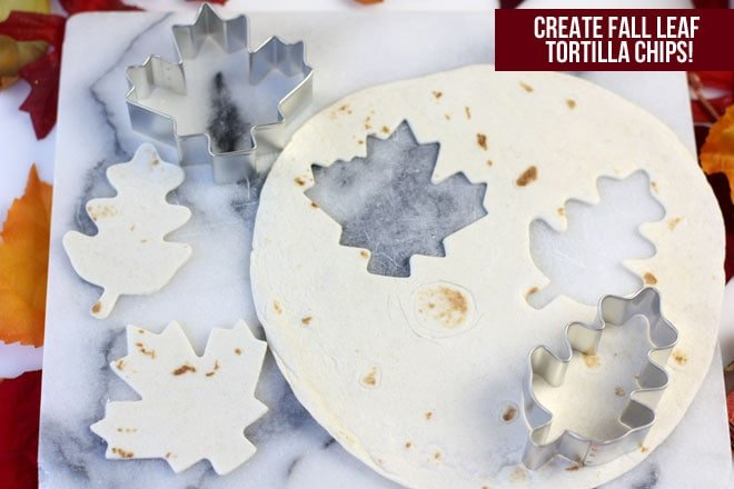 Create fall leaf tortilla chips with this tutorial!