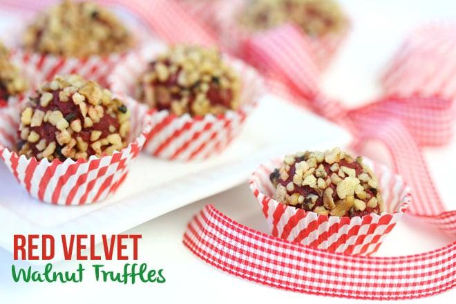 Red Velvet Walnut Truffle Recipe - EASY