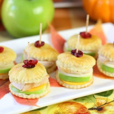 Bite Size Turkey Thanksgiving Appetizers!
