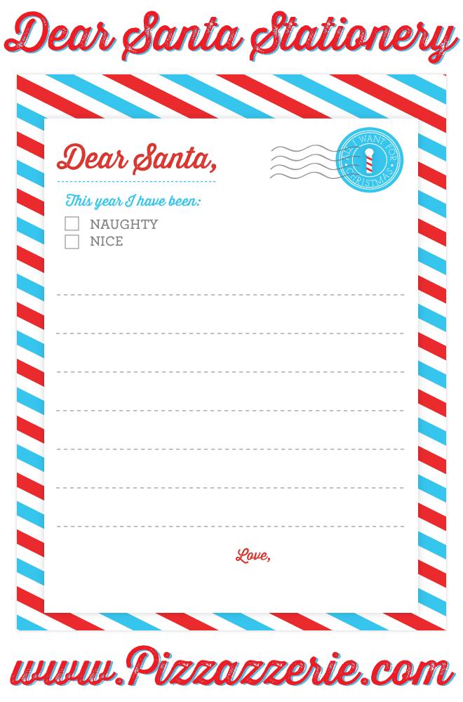 Freebie dear santa stationery pizzazzerie for Dear santa template kindergarten letter