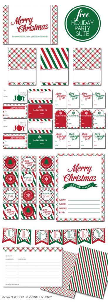 Free Holiday Printables