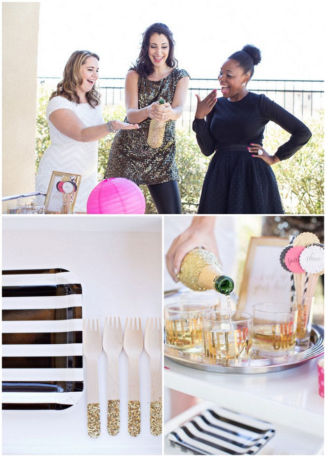 Pink + Gold New Year's Eve Party Details and Ideas!
