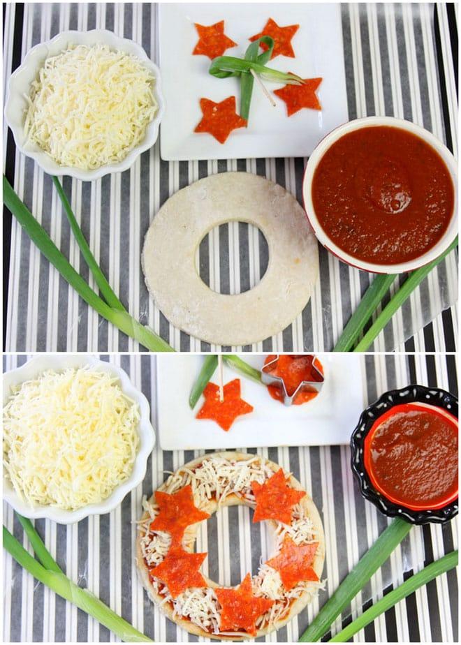 How To Make Mini Christmas Wreath Pizzas Pizzazzerie
