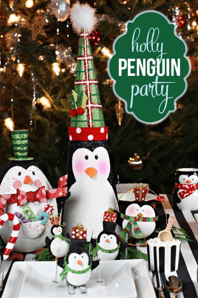 A holly jolly penguin themed christmas party!