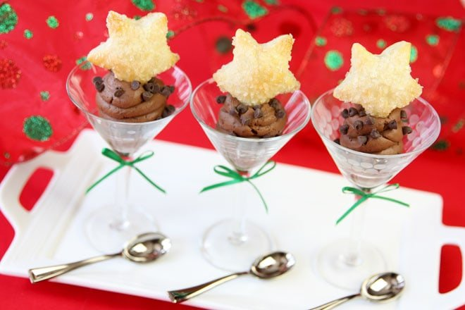 Elegant Sugared Pastry Stars & Chocolate Mousse Dessert!